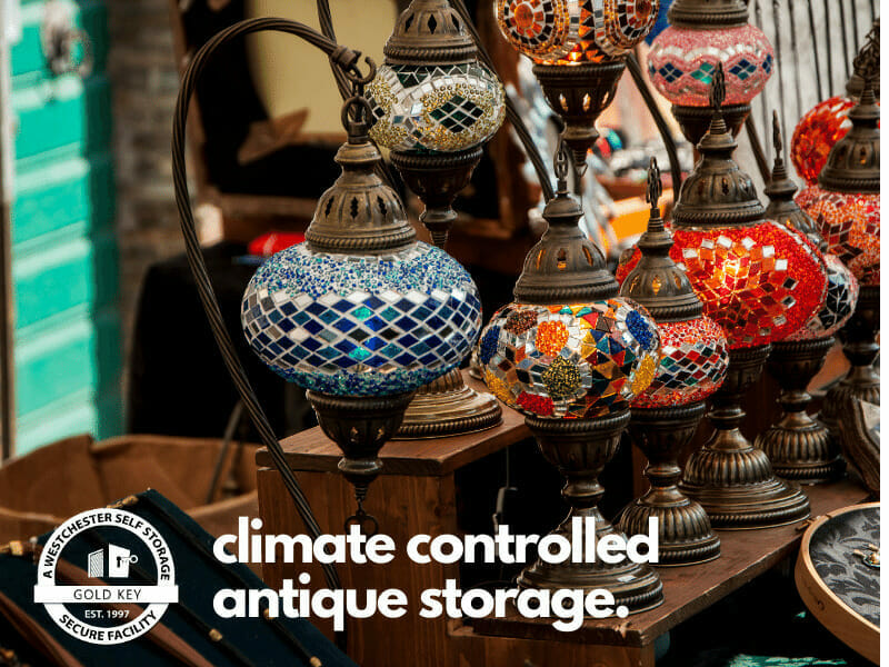 climate controlled storage for antiques