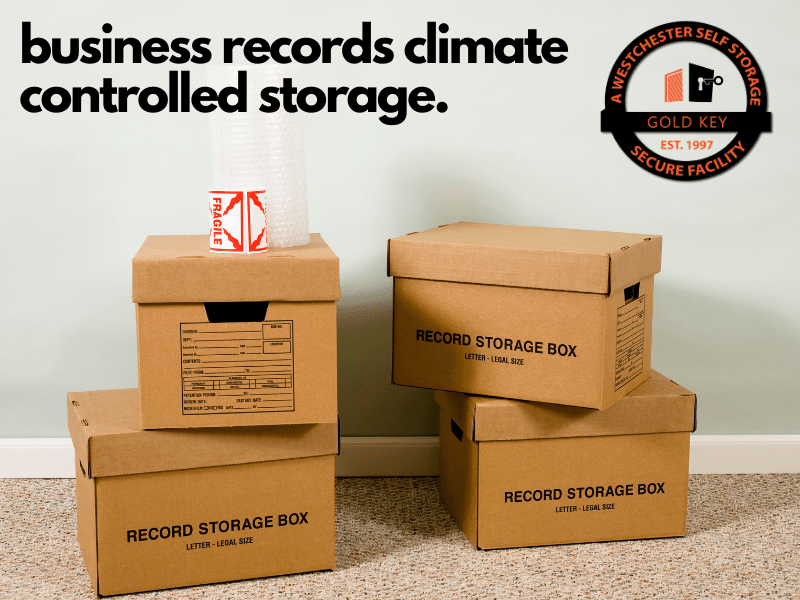 climate controlled paperwork storage Bedford