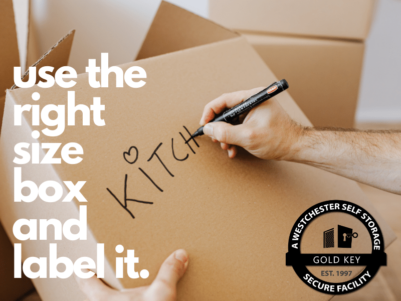 Storage Tips Pleasantville Use The Right Sized Box